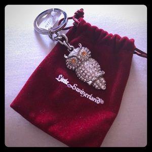 Owl crystal keychain